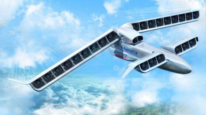 Model van een elektrisch vliegtuig